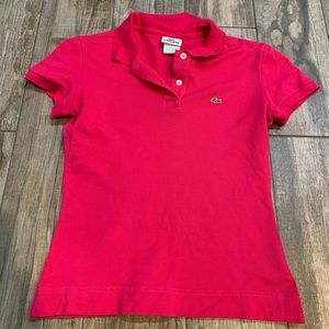 Lacoste Hot Pink Polo size 38 (S)
